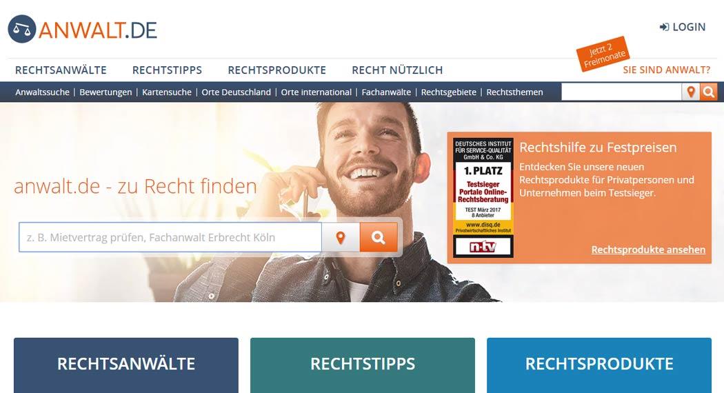 anwalt.de: Legal Tech aus Nürnberg