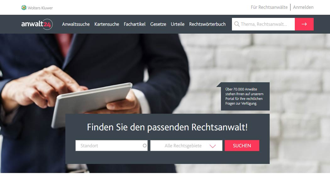 Anwalt24.de: Legal Tech aus Neuwied
