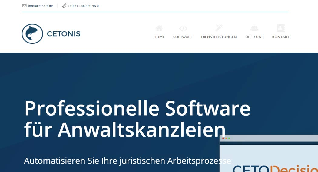 Cetonis: Legal Tech aus Stuttgart
