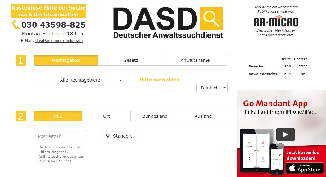 DADS Deutscher Anwaltssuchdienst: Legal Tech aus Berlin