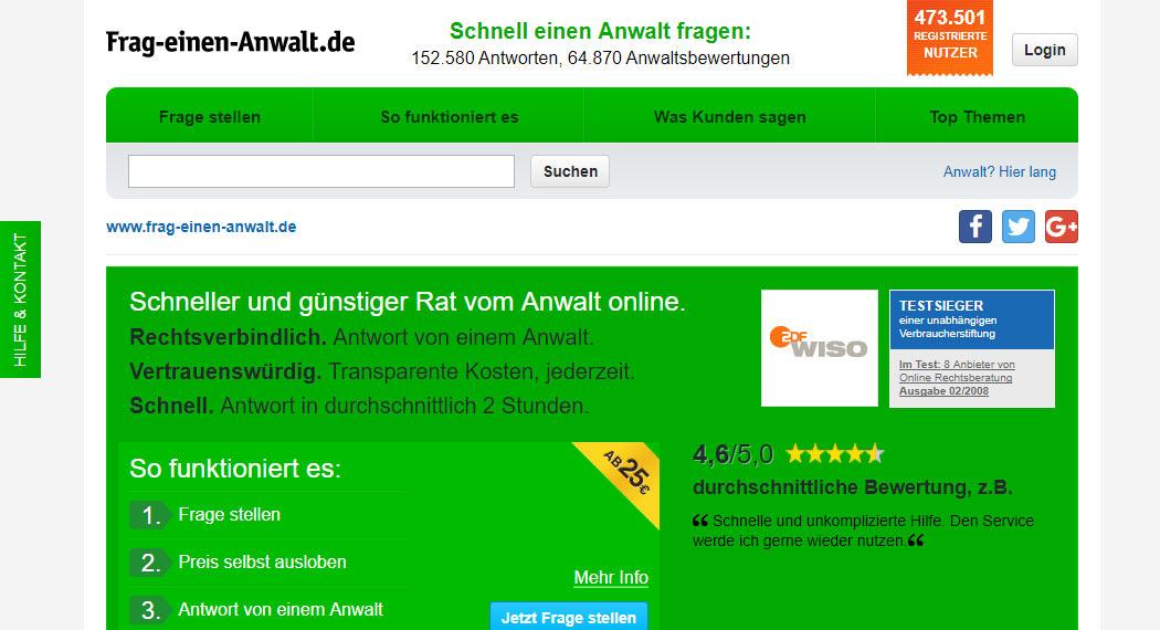 frag-einen-anwalt.de: Legal Tech aus Hannover