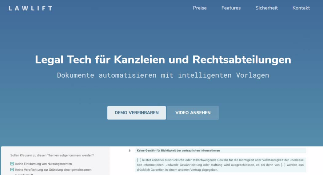 Lawlift - Legal Tech aus Berlin