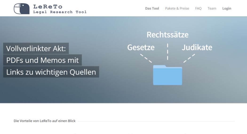 LeReTo: Legal Tech aus Österreich