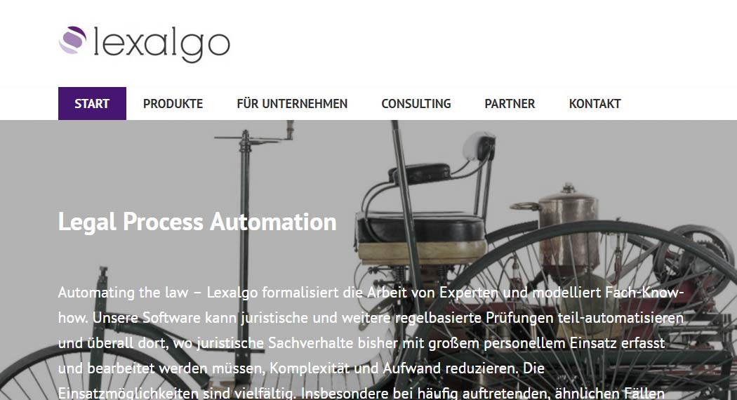 Lexalgo: Legal Tech aus Mainz