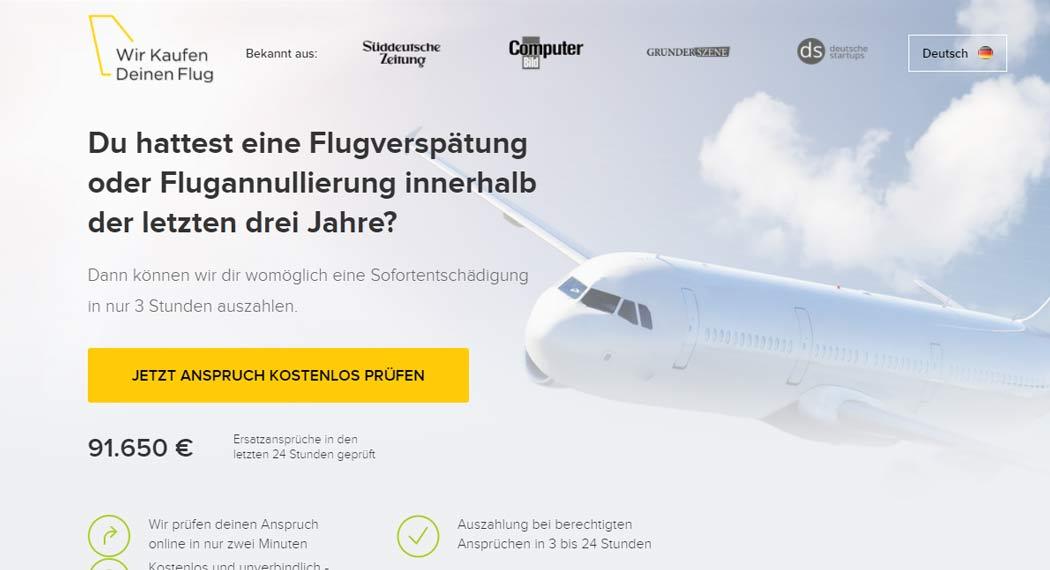 Wir Kaufen Deinen Flug: Legal Tech aus Hamburg