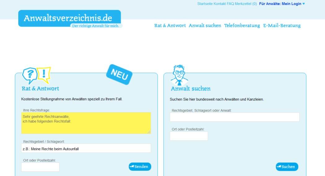 Anwaltsverzeichnis: Legal Tech aus Nürnberg