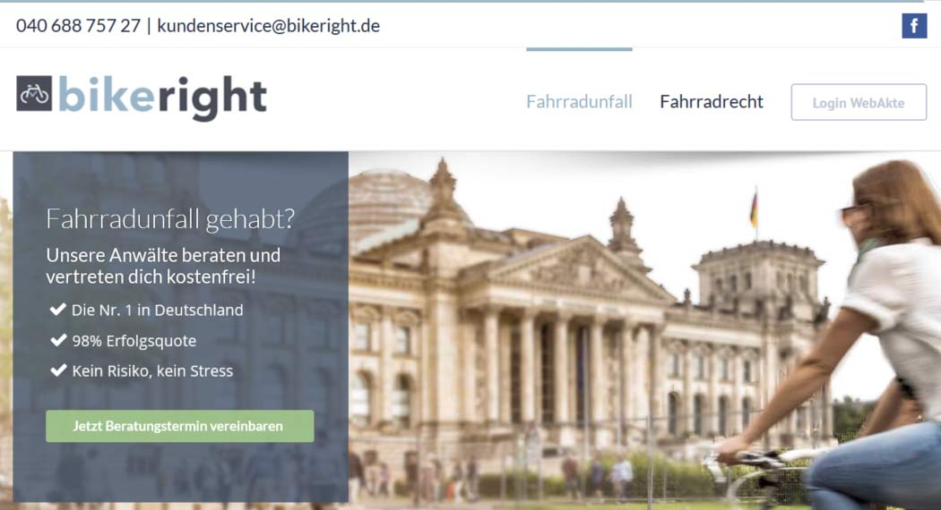 Bikeright: Legal Tech aus Hamburg