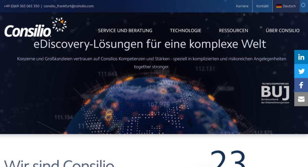 Consilio: Legal Tech