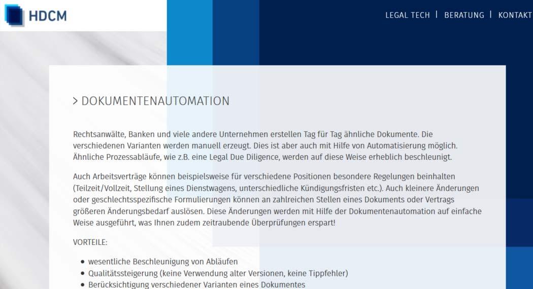 HDCM: Legal Tech aus München