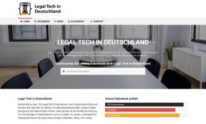 Legal Tech in Deutschland Website