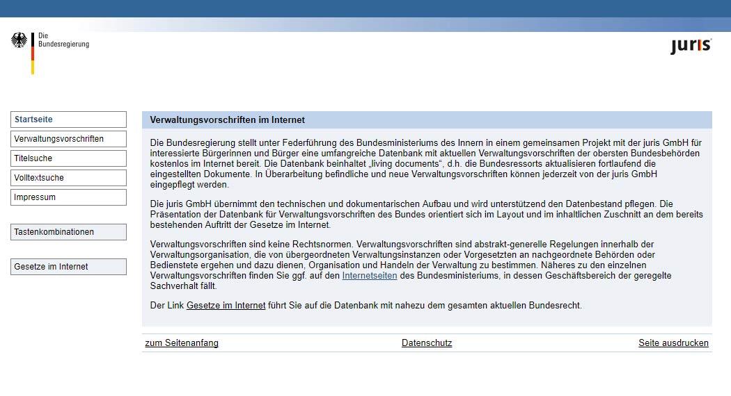 Verwaltungsvorschriften im Internet: Legal Tech aus Berlin