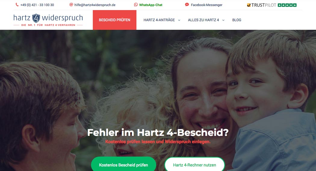 Legal Tech: Hartz 4 Widerspruch