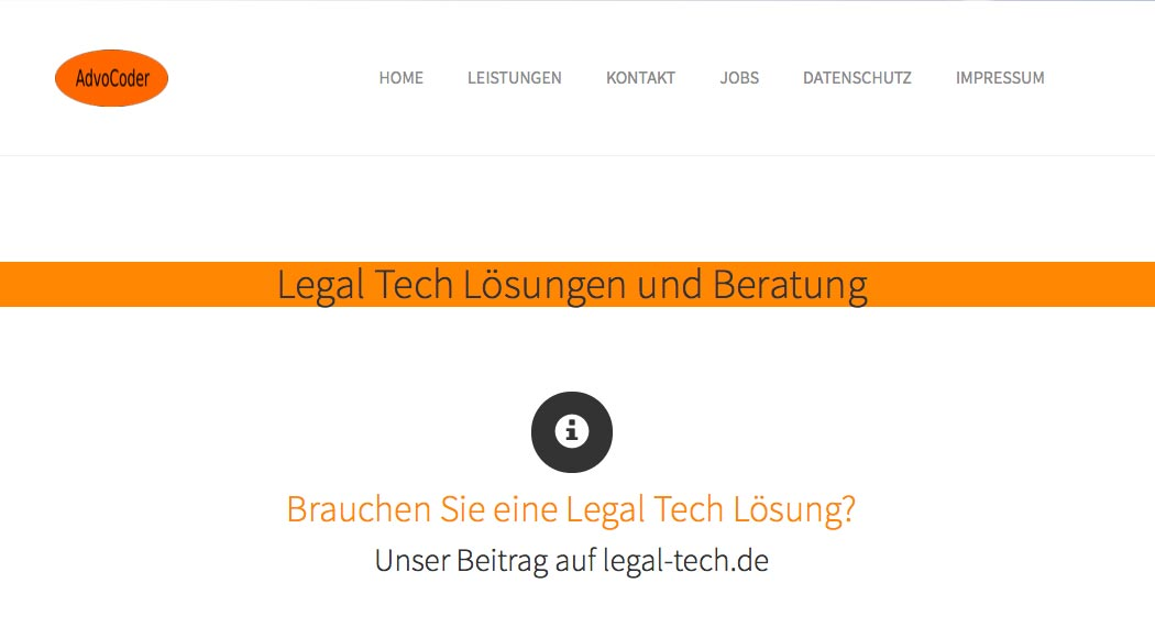 Legal Tech in Deutschland: AdvoCoder