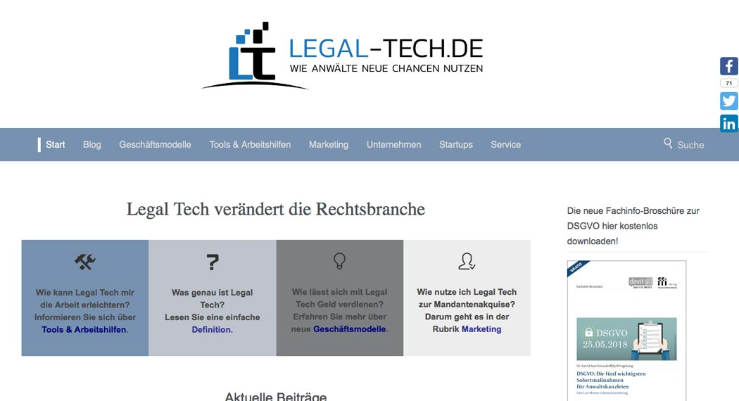 Legal Tech in Deutschland: Legal-Tech.de