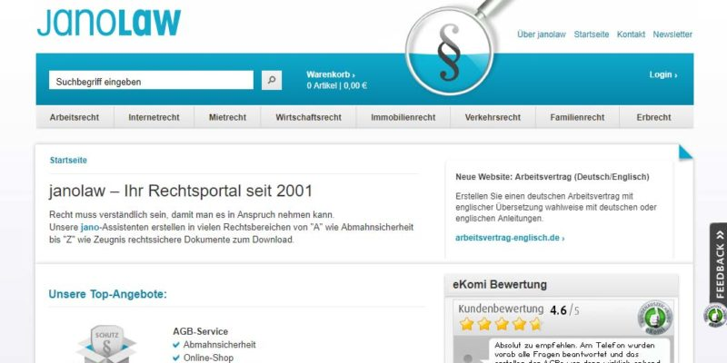Janolaw Legal Tech In Deutschland